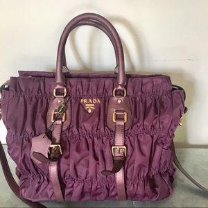 Prada purple shoulder bag crossbody